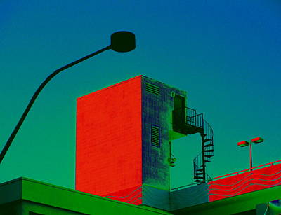 Street Lamps Digital Art - Stair To Where by Randall Weidner
