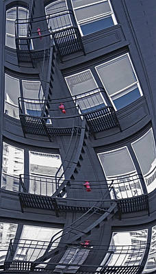 Staircase Distortion Art Print by Steve Ohlsen