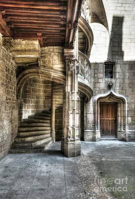 Photograph - Staircase In Dijon by Mel Steinhauer
