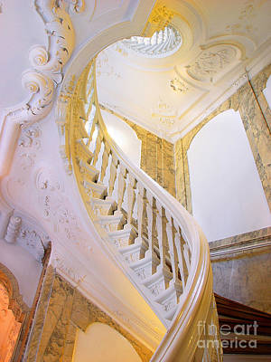 Art Print featuring the photograph Staircase In Wood by Michael Edwards