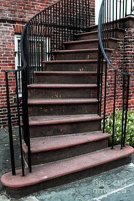 Old School House Photograph - Staircase by John Rizzuto