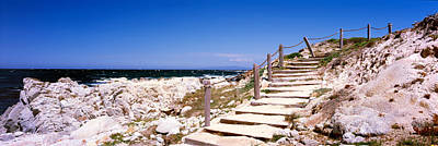 Staircase Scenes Photograph - Staircase On The Coast, Pacific Grove by Panoramic Images
