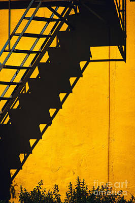 Print featuring the photograph Staircase Shadow by Silvia Ganora