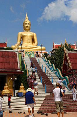 Staircase To Sitting Budda Art Print by Linda Phelps
