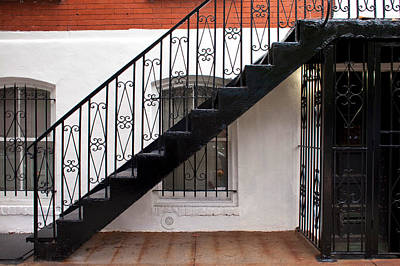 Photograph - Stairs And Ironwork by Cornelis Verwaal