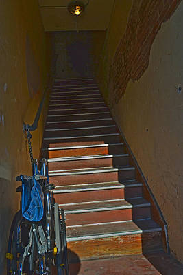 Photograph - Stairs And Wheelchair by Bill Owen