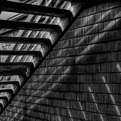 Wooden Photograph - Stairs by David Patterson