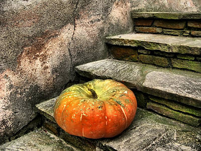 Photograph - Stairs In Autumn - Still Life by Daliana Pacuraru