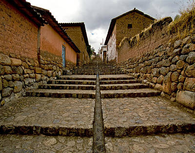 Photograph - Stairs in Chinchero Peru by Jared Bendis