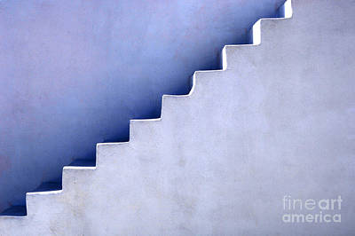 Photograph - Stairs In Santorini by Bob Christopher