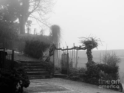 Stairs In The Fog Art Print