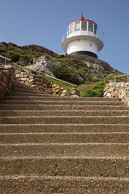 Table Mountain Photograph - Stairs Leading To Lighthouse Atop Hill by Jaynes Gallery