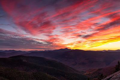 Photograph - Stairs Mountain Autumn Sunset by Jeff Sinon
