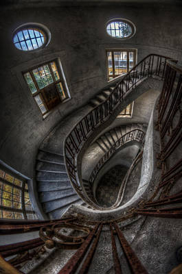 Abandoned Digital Art - Stairs Of Majesty . by Nathan Wright