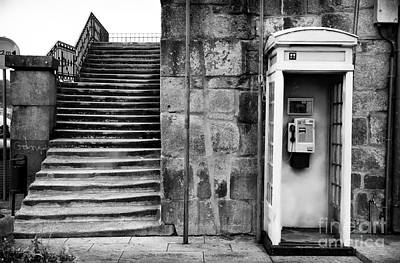 Old Phone Booth Photograph - Stairs Or The Phone by John Rizzuto
