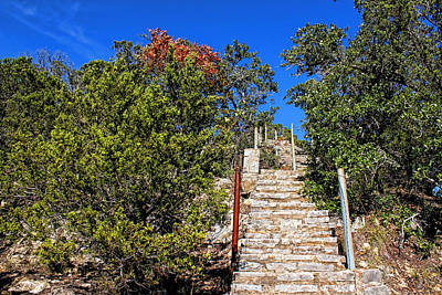 Wimberley Photograph - Stairs To Mount Baldy  by Judy Vincent