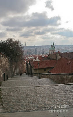 Photograph - Stairs To Prague by Elvis Vaughn