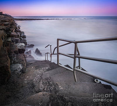 Stairs To Surf Heaven Panorama Original by Michael Ver Sprill