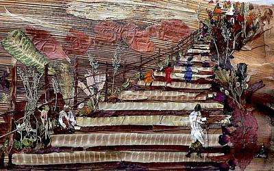 Temple Mixed Media - Stairs To Temples  by Basant Soni