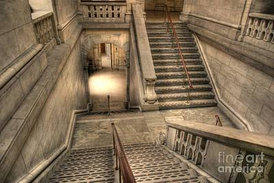 Stairs Up And Down Art Print by David Bearden