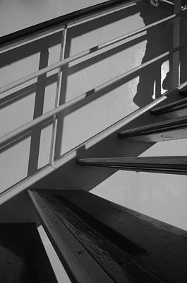 Photograph - Shadows Ascending - Bw by Marilyn Wilson