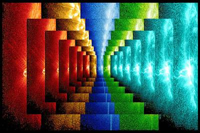 Digital Art - Stairsteps by Paula Ayers