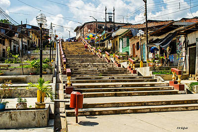 Photograph - Stairway From Shanty Town by Allen Sheffield