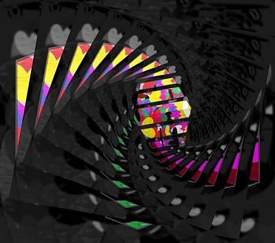 Etc. Digital Art - Stairway by HollyWood Creation By linda zanini