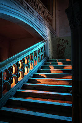 Photograph - Stairway In Abandoned European Castle by Matjaz Slanic