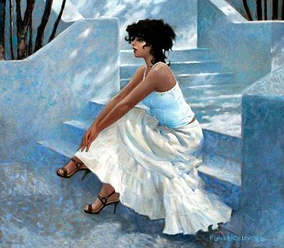 Painting - Stairway Stop by Kevin Lawrence Leveque