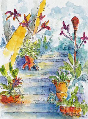 Painting - Stairway Through Paradise by Pat Katz
