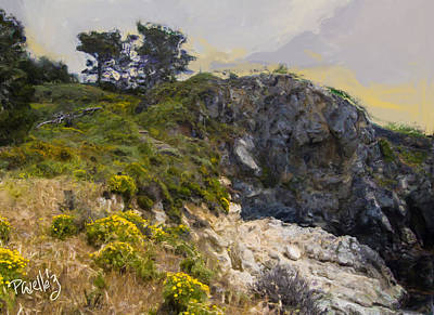 Digital Art - Stairway To China Cove - Point Lobos - Carmel Ca by Jim Pavelle