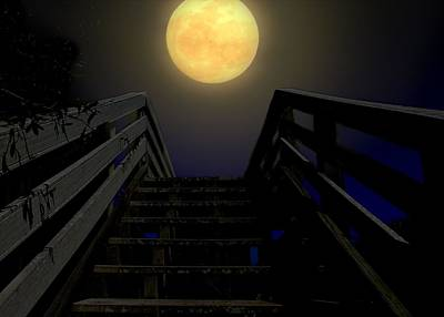 Art Print featuring the photograph Stairway To Heaven by Laura Ragland