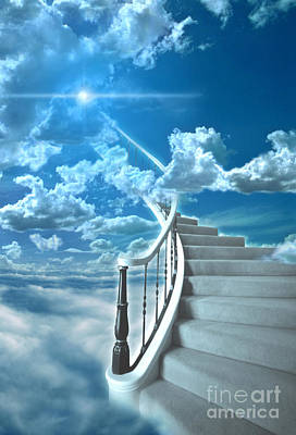 Stairway To Heaven Print by Mike Agliolo