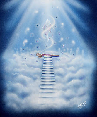 Stairway To Heaven Art Print by Nickie Bradley