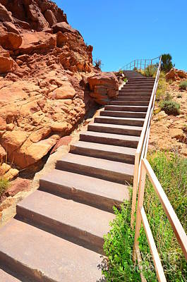 Photograph - Stairway To Meteor Crater by Debra Thompson