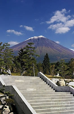 Art Print featuring the photograph Stairway To Mt Fuji by Ellen Cotton