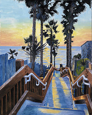 Stairway To Paradise Print by Andrew Palmer