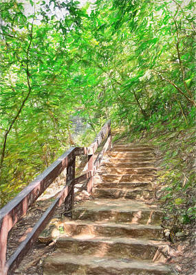 Ally Photograph - Stairway To Paradise by John M Bailey