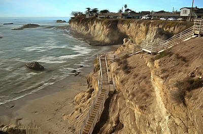 Pismo Beach Painting - Stairway To Pismo Beach by Barbara Snyder