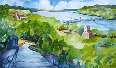 Staircase Painting - Stairway To Stillwater by Steve Brumbaugh
