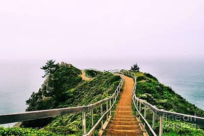 Stinson Beach California Photograph - Stairway To Stinson by Nancy Chambers