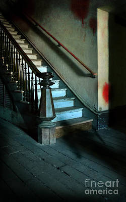 Photograph - Stairway With Shadow Man And Blood by Jill Battaglia
