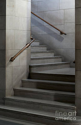 Photograph - Stairwell At The Nebraska State Capitol Building by Art Whitton