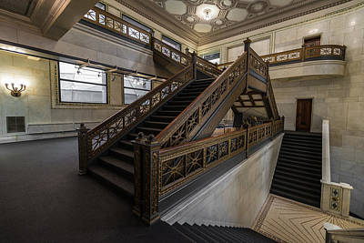 Stairwell Chicago Cultural Center Original by Steve Gadomski