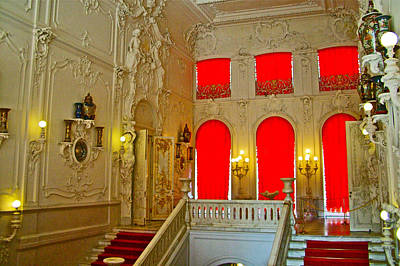 Catherine Palace In Russia Photograph - Stairwell In Catherine's Palace In Pushkin-russia by Ruth Hager