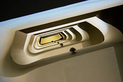 Curvilinear Photograph - Stairwell by Mark Williamson