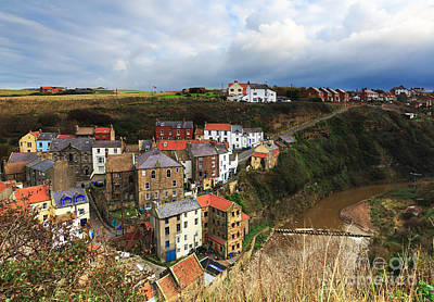 Staithes In North Yorkshire Art Print by Louise Heusinkveld