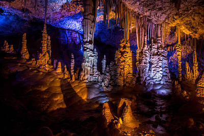 Photograph - Stalactite Cave by Mark Perelmuter
