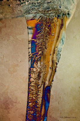 Photograph - Stalactite by WB Johnston